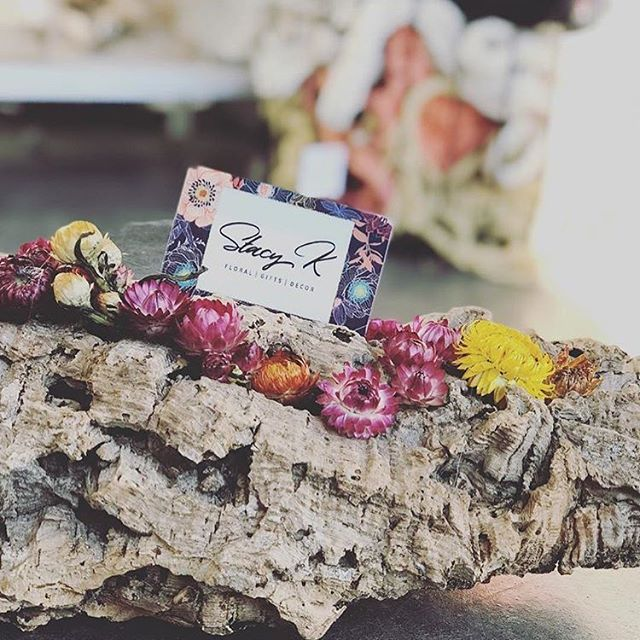 The perfect holiday gift is at @stacykfloral ! I love designing pretty stuff for this shop ❤️ Go in and stock up on gift cards this weekend!
