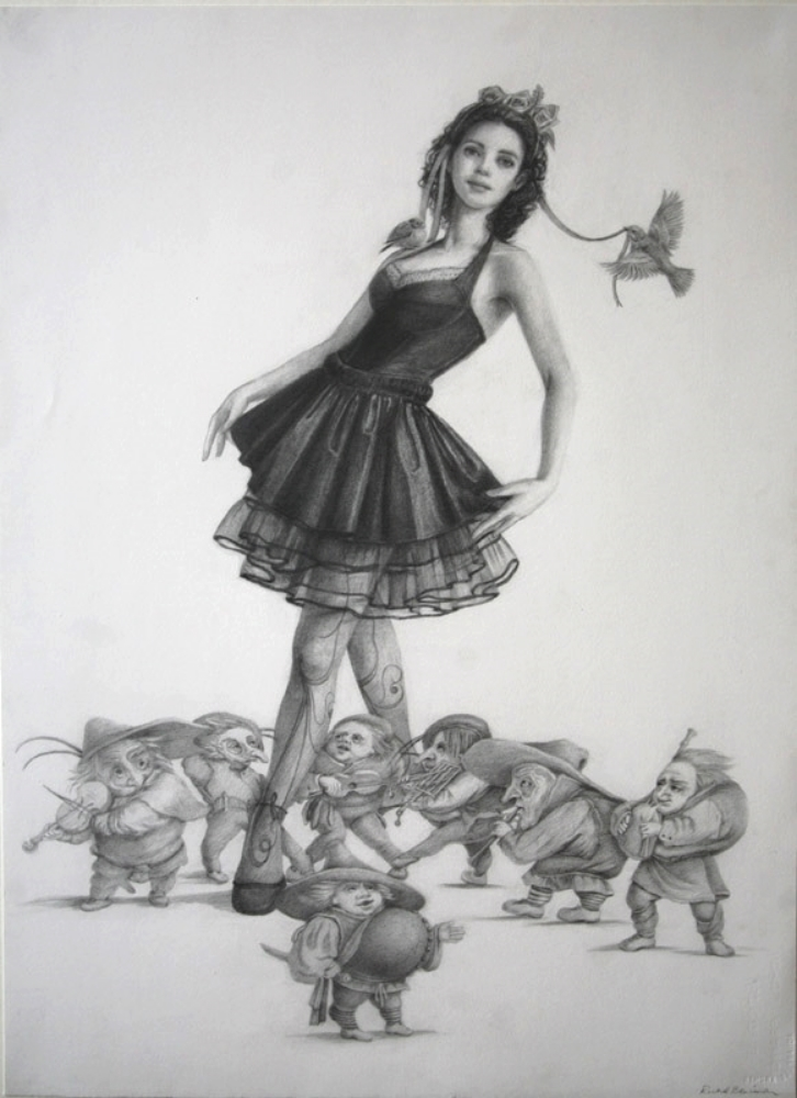 "Snow Black, graphite on paper, 22""x30"", 2012"