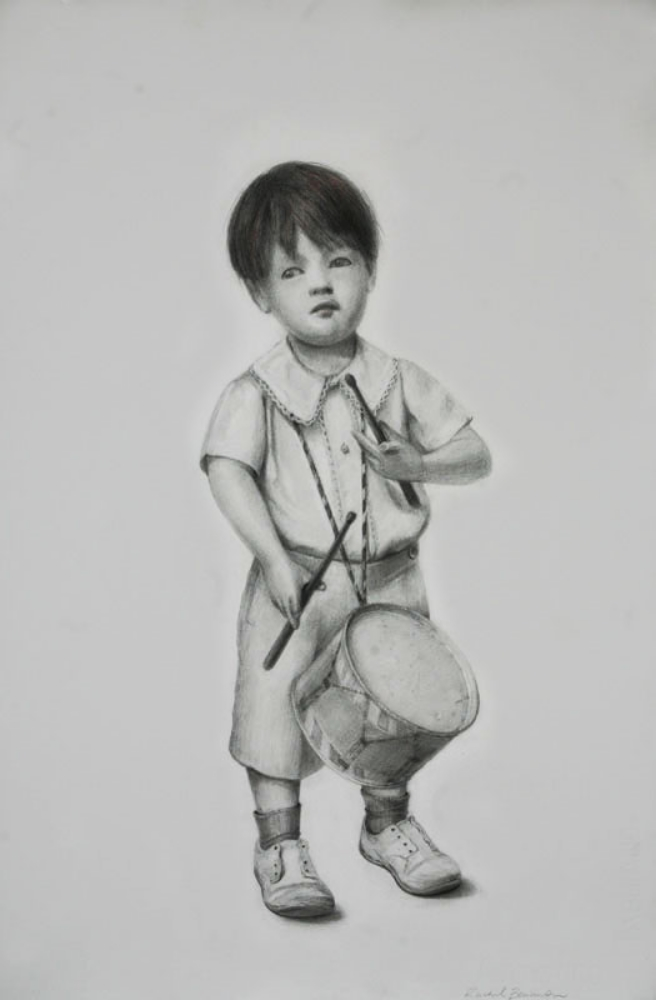 "Boy Toy, graphite on paper, 24""x16"", 2010"