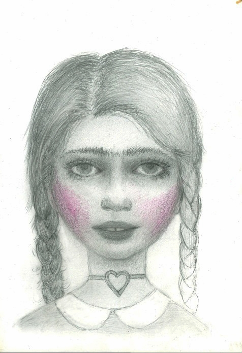 "Love Child, graphite on panel, 4""x6,"" 2014"