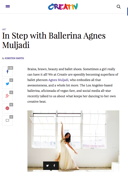 Creativ Magazine In Step with Ballerina Agnes Muljadi, December 2015