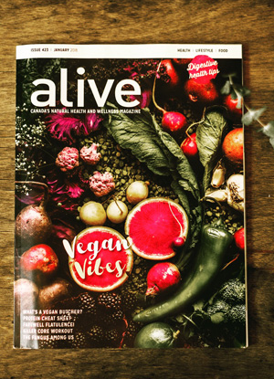 Alive Magazine, Canada, January 2018