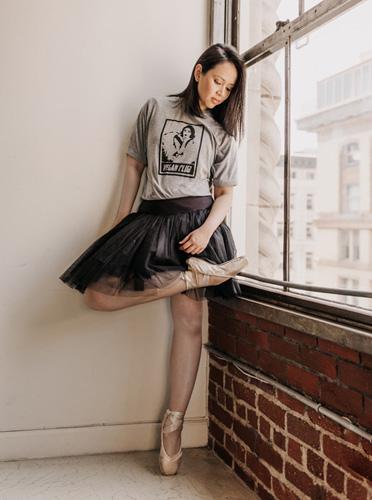 @artsyagnes X VEGAN CLUB - Limited Edition @artsyagnes Vegan Club Tee featuring Ballerina Agnes Muljadi.