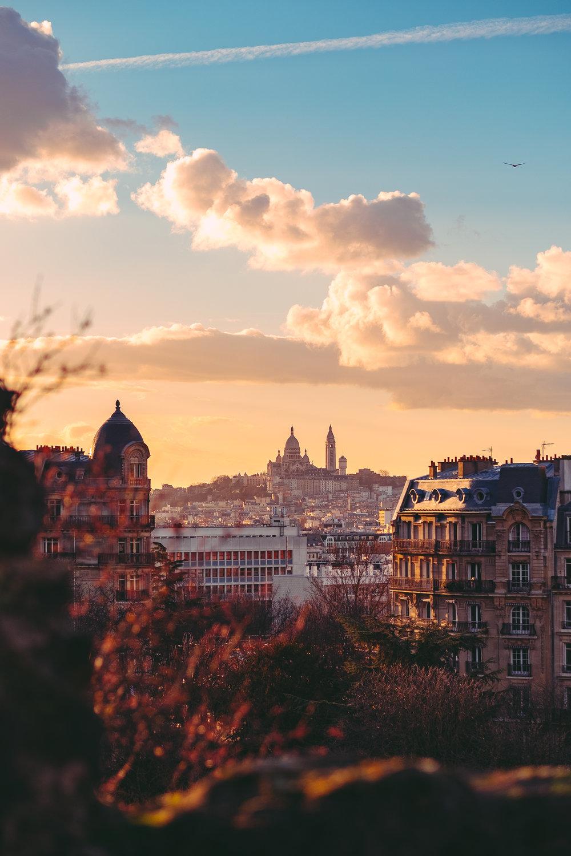 Montmartre from Parc des Buttes-Chaumont