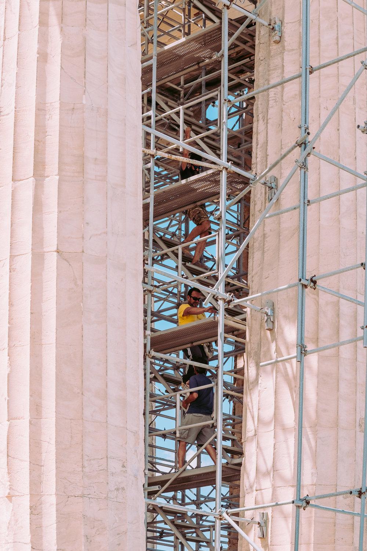 Acropolis workers