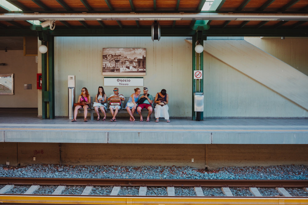 Thissio metro stop