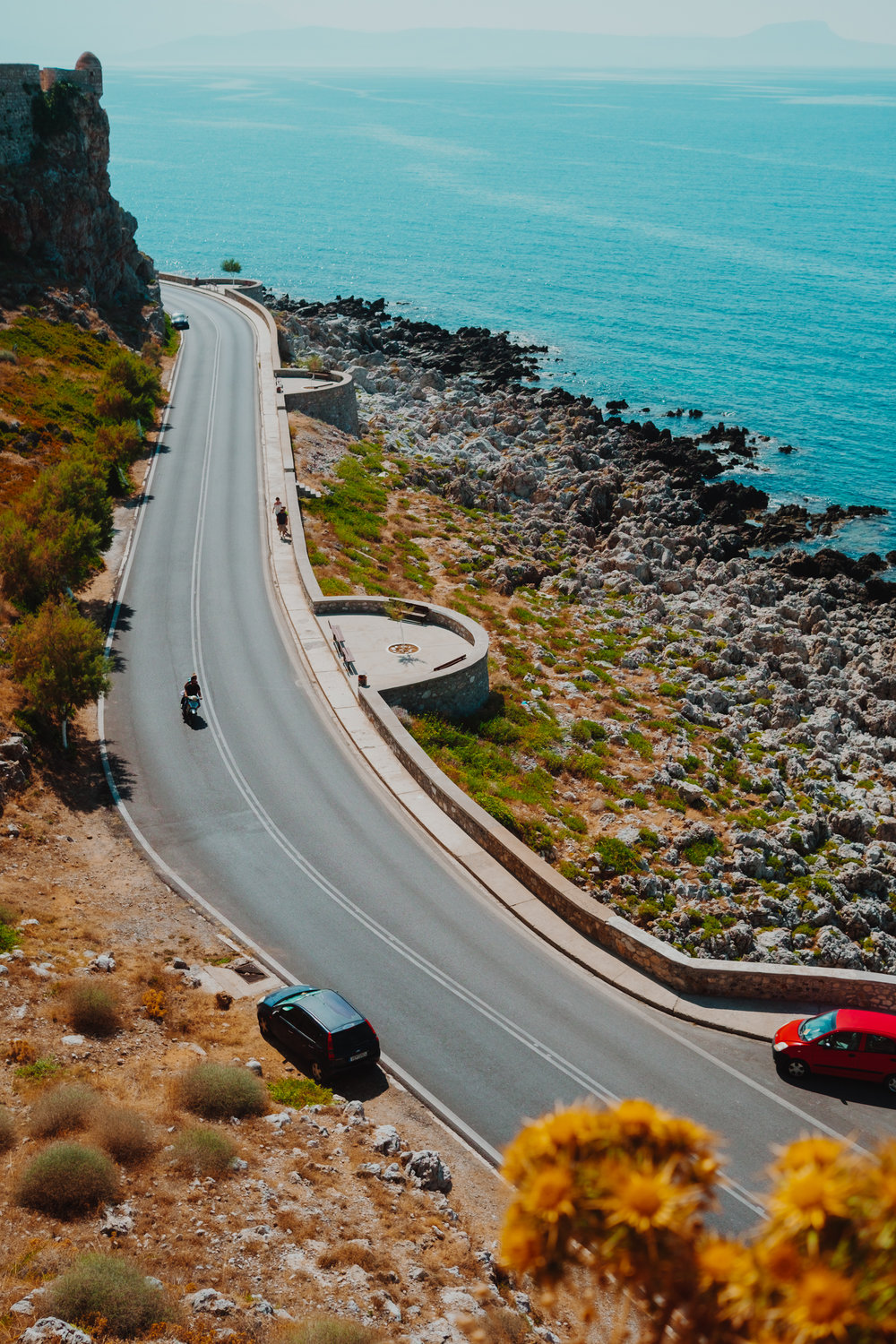 coastal road Rethymno