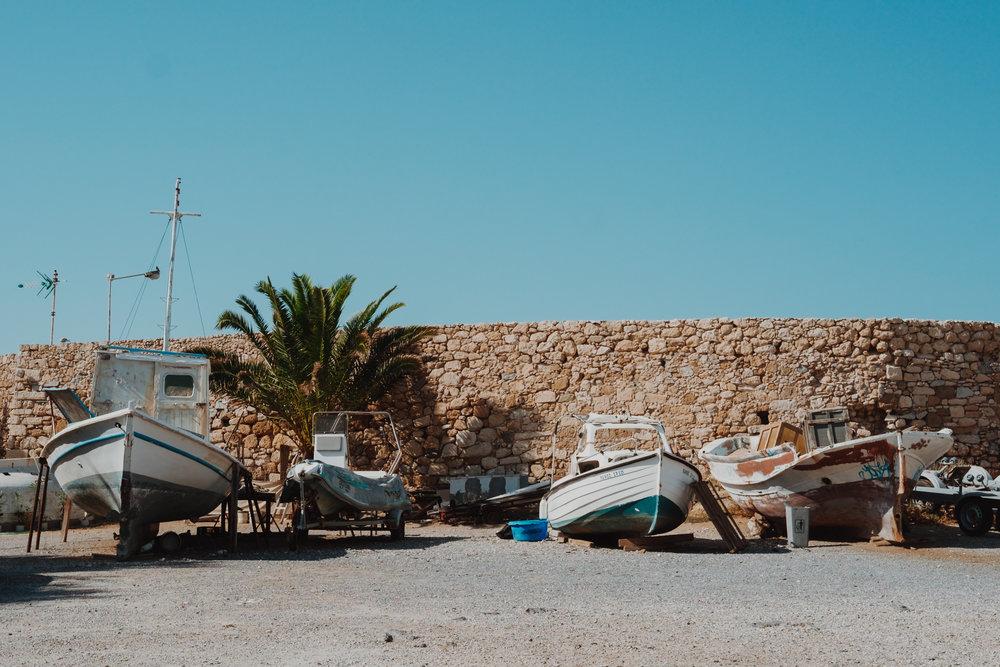 Rethymno boats