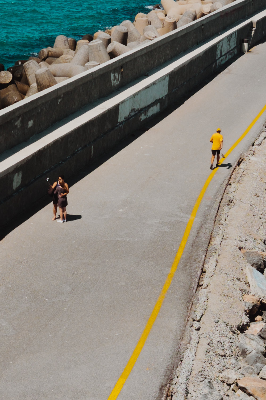 yellow jogger