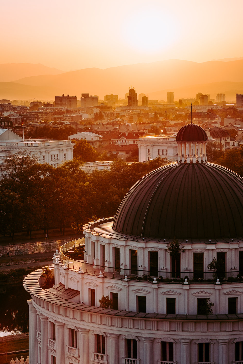 Skopje golden hour