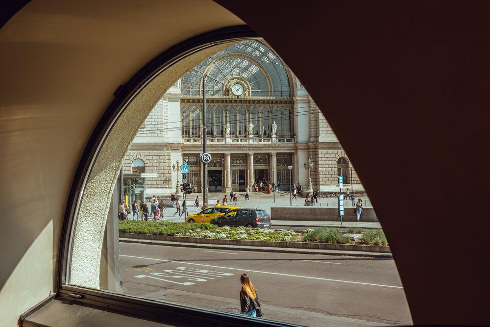 Keleti pályaudvar . Budapest, Hungary.April 2, 2017.