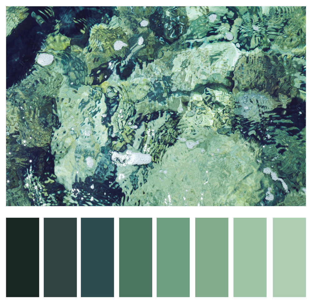 Figure 5a: Shades of greens.