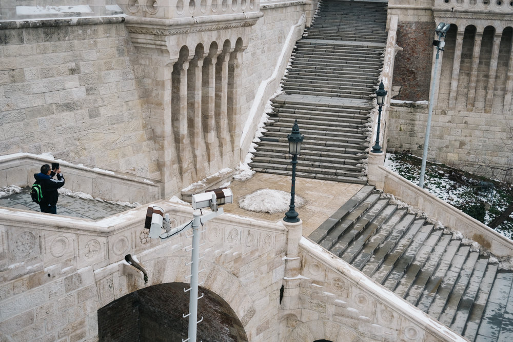 Fishermans Bastion stairs Budapest
