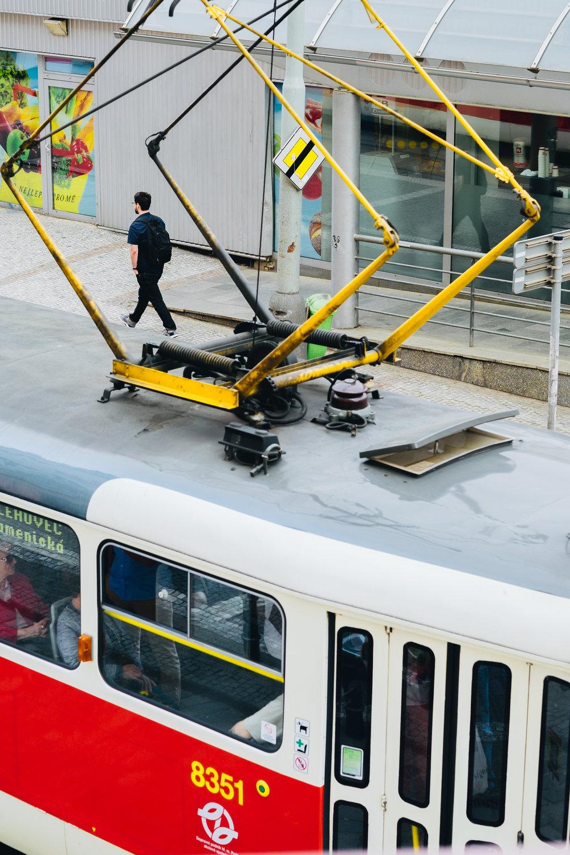 Pantograph tram - Prague Street Photography