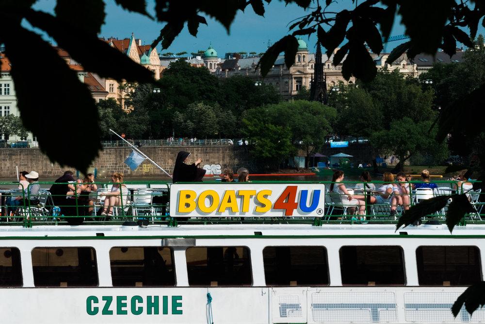 boat cruise on the Vltava Prague Praha Boats4U
