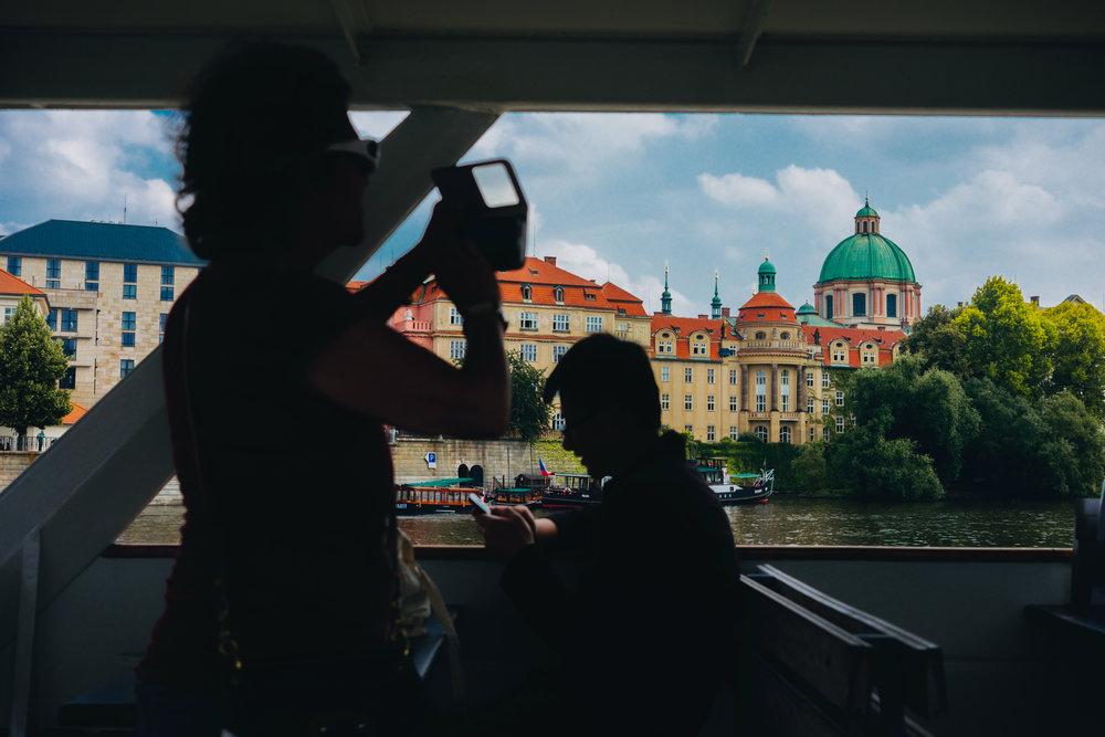 boat cruise on the Vltava Prague Praha Mala Strana