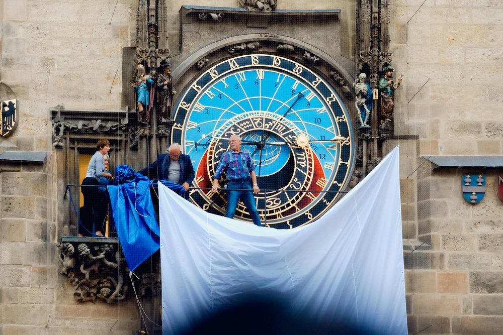 Prague Astronomical clock street photography