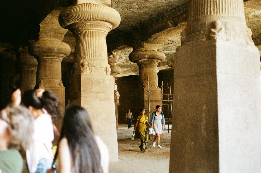 Elephanta Caves Mumbai Bombay India Portra 400 Minolta X-700 (1 of 1).jpg