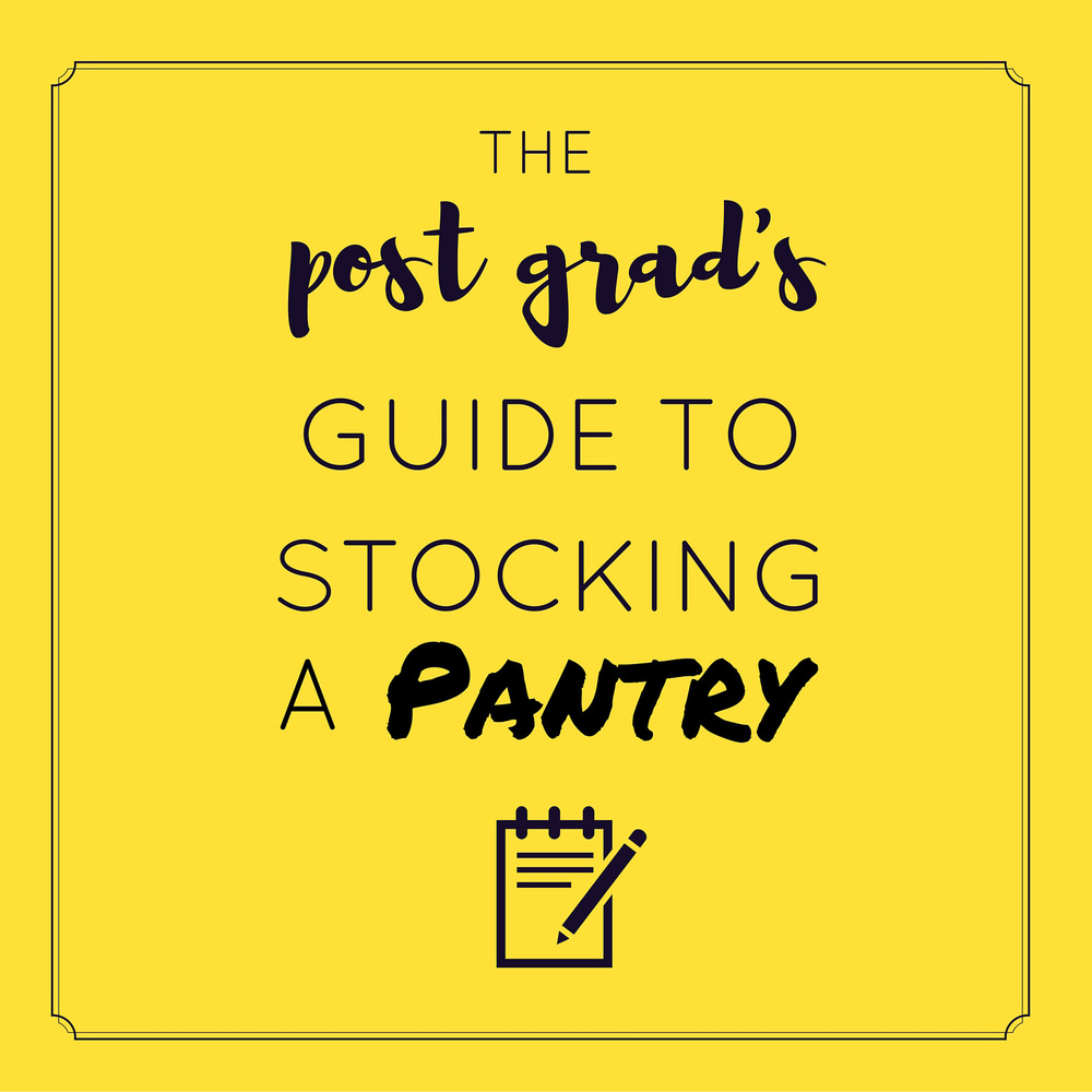 How to stock a pantry with everything you need to cook for yourself! | themillennialmenu.com