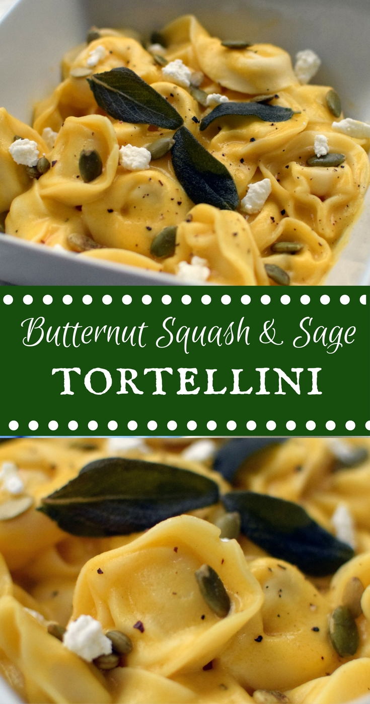 Butternut Squash and Sage Tortellini is melt-in-your-mouth good. Delicious! | themillennialmenu.com