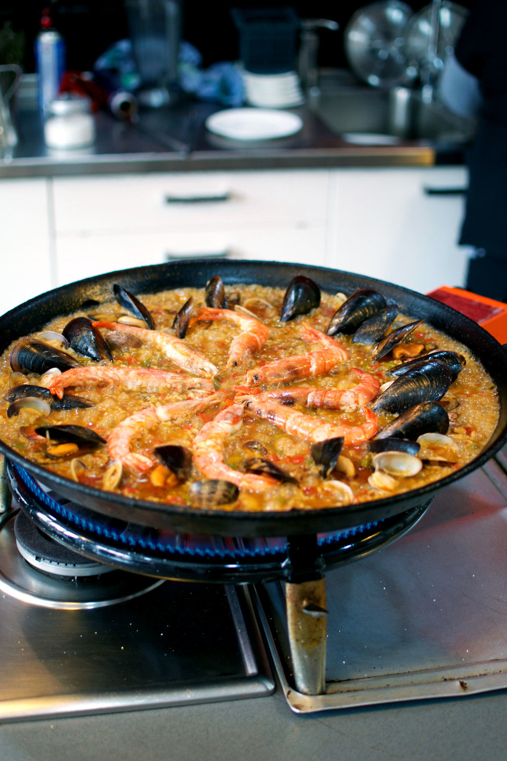 we dove into spanish cuisine pretty deeply - in a cooking class! We learned how to make paella (along with crema Catalana and much more) and semi-successfully re-created this recipe at home last weekend. We truly enjoyed our experience at  barcelona cooking  and felt it was a great value for the money!
