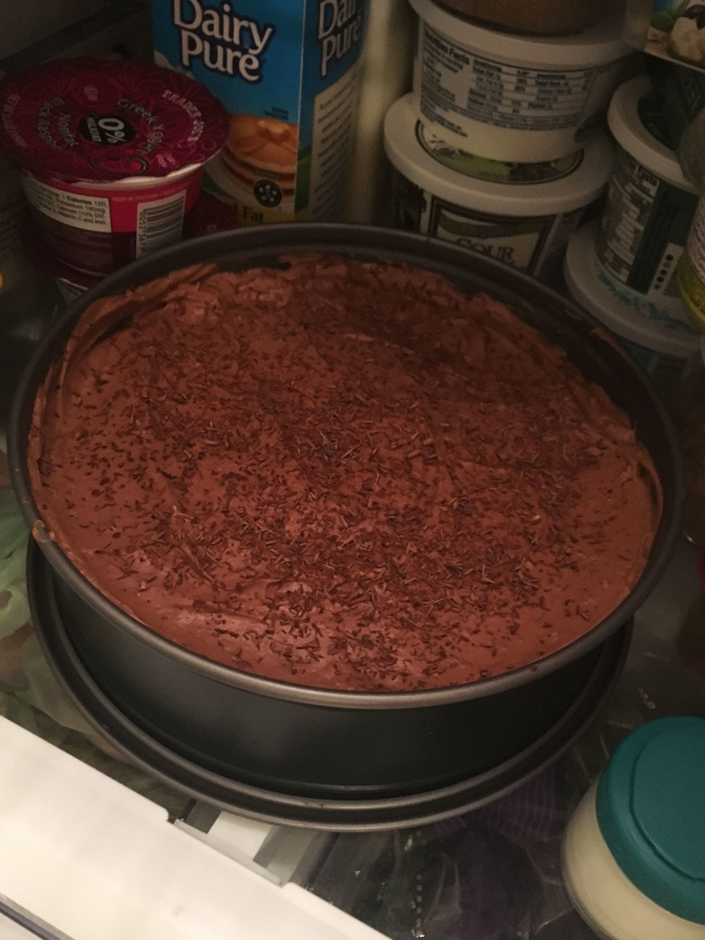 I tested out a gluten free no-bake chocolate cheesecake for dinner with coworkers and it was a hit. Some more tweaking and taste-testing, and I'll share it on the blog.