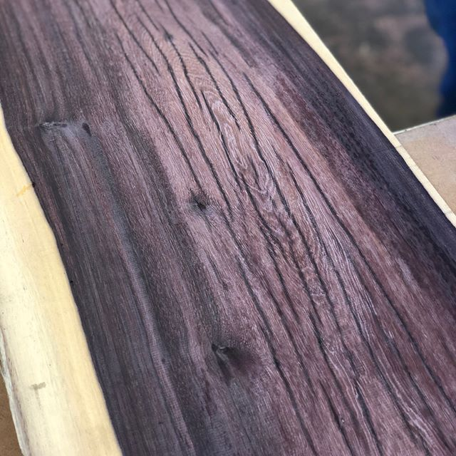 Katalox sure is some crazy looking stuff. Hard as nails too. #woodworking #woodwork #woodshop #lumber #katalox #hard #work #pretty #enjoy ✌🏻