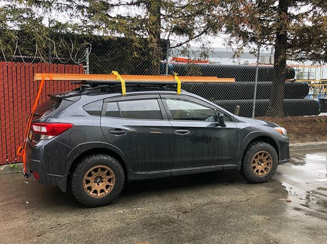 Who needs a truck for lumber. Crosstrek did just dandy in this pickup. Thanks to @rhinorackusa for the roof space too. @ca_trek