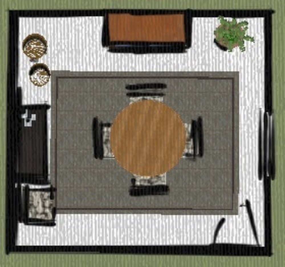 Dining room space plan