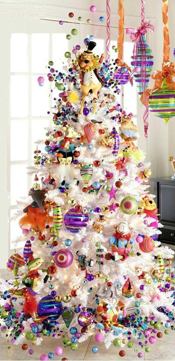 Fun trees are always in style for children and adults alike. The more color the merrier. via: homedit