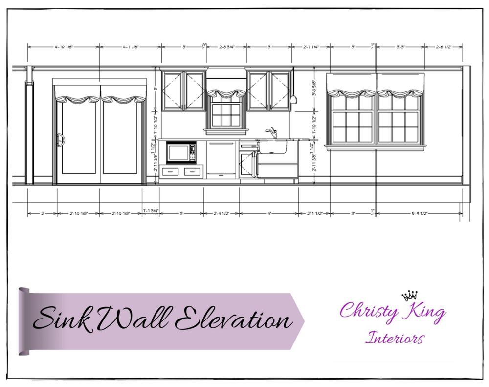 kitchen wall elevation