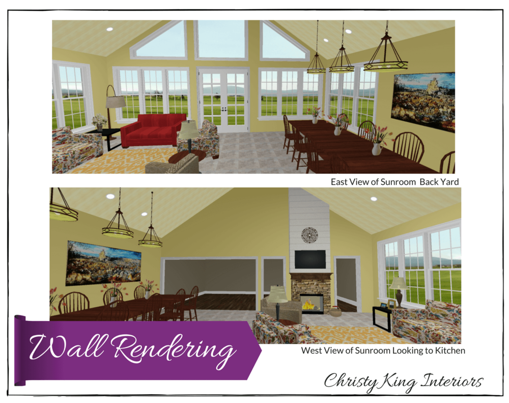Sunroom wall rendering