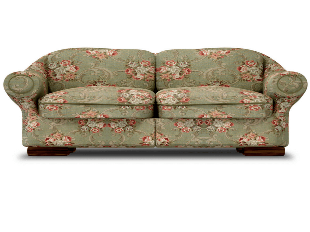 Lose the flower power sofa