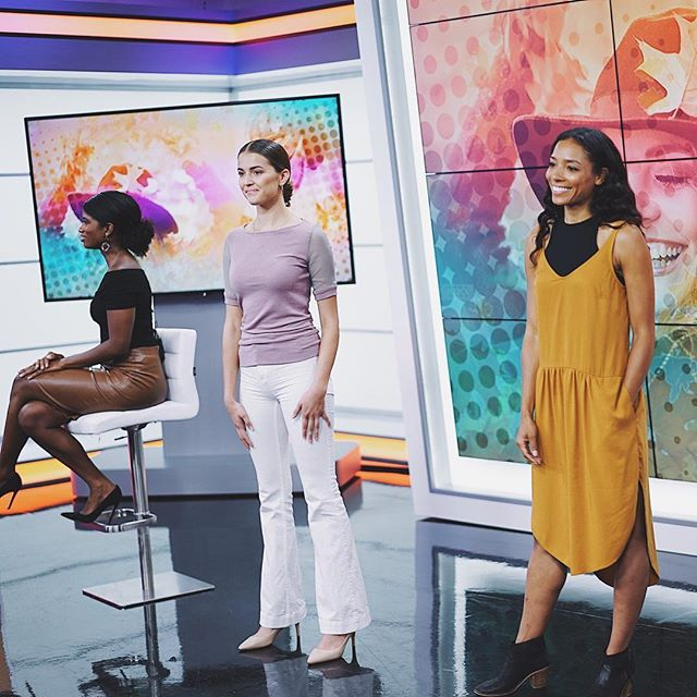 #tbt to being on @thejamtv and sharing just a few of my favorite ways to transition your wardrobe to Fall with pieces from #TheShoppes. Read our blog post - link in bio. Headed back next week to talk Emmy's fashion and then @wgnnews the day after to talk Fall fashion with a few of my favorite #Chicago boutiques! #readypretty #shoptheshoppes