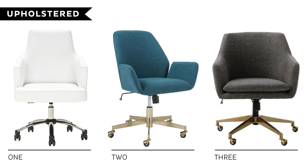 More Upholstered Beauties Below. Numbers Two And Three Are Standouts,  Simply For Their Sexy Brass Legs. Something I Rarely See When It Comes To  Office ...