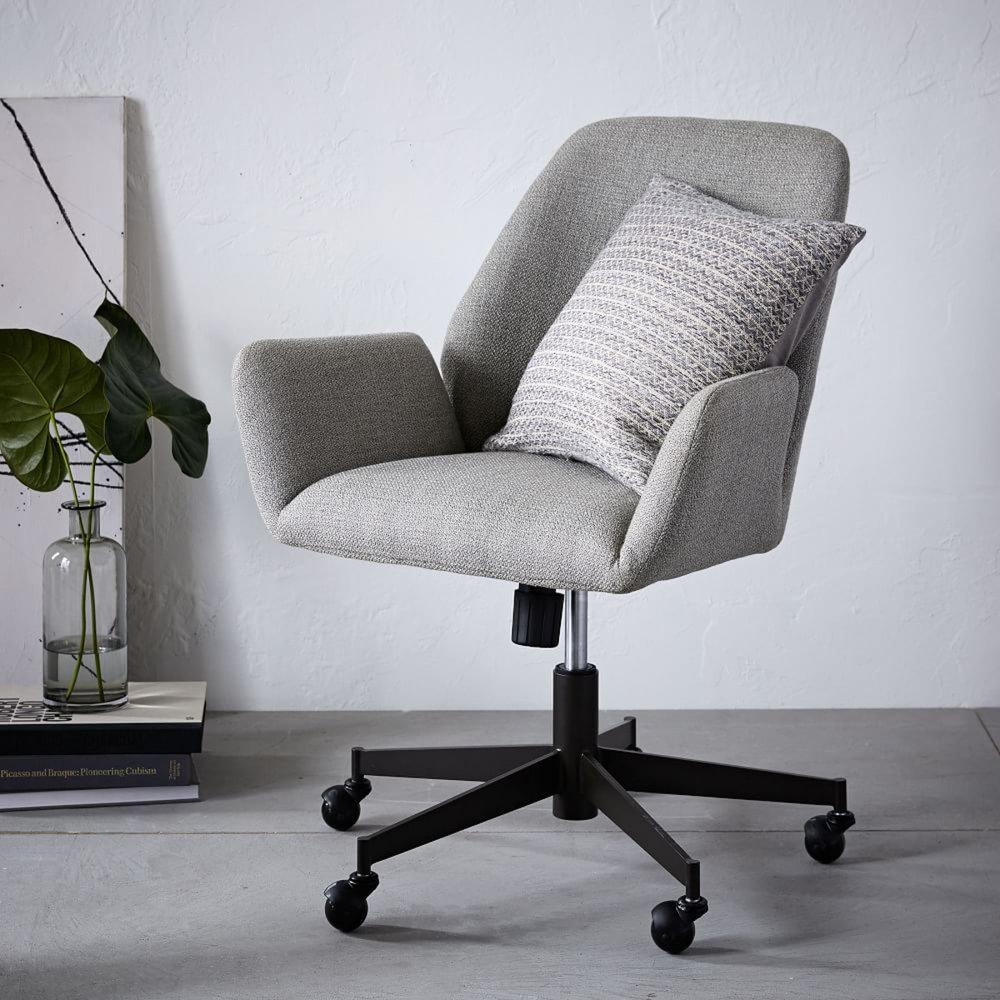 Upholstered Desk Chair Riverside Belmeade Round Back Upholstered