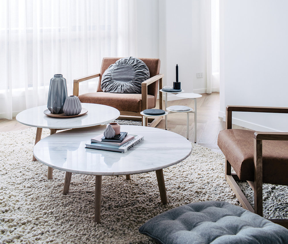 Finding the perfect coffee table home info photography hannah blackmore styling claudia stephenson round marble coffee tables medium and low geotapseo Image collections