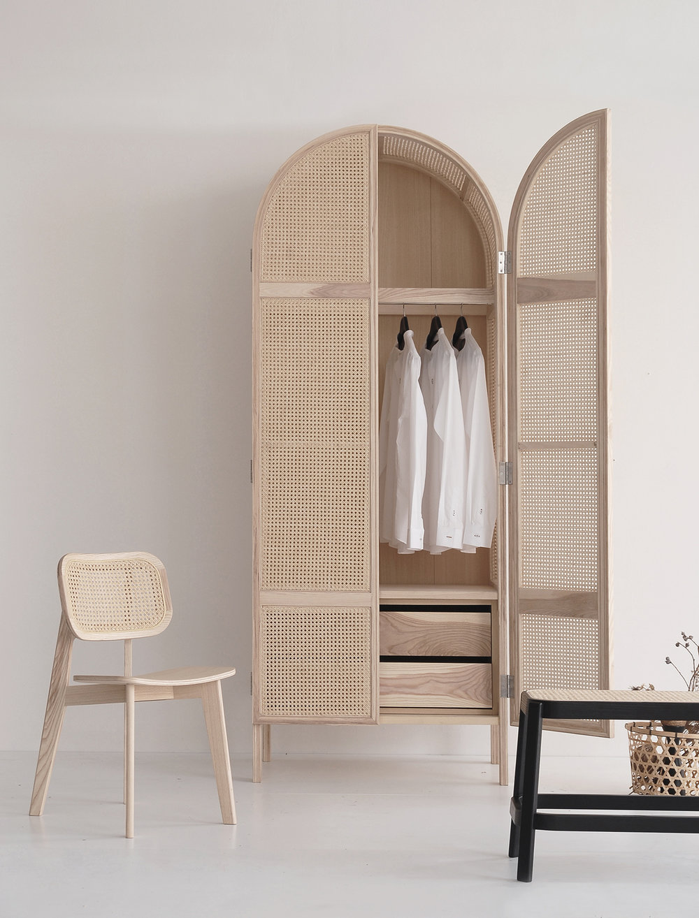 Curio cane furniture by Atelier 2+ available from Clickon Furniture