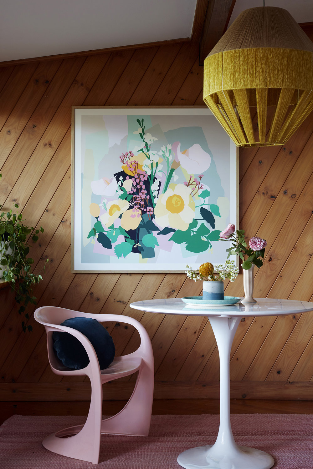 Leah Bartholomew's  London Flowers  print   /    Photography  Jessie & Jones   /    Styling  Noël Coughlan