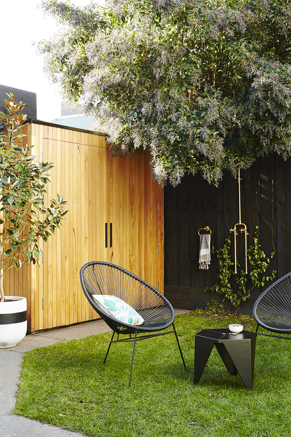 Paola Gredler's compact courtyard (as featured on the cover)  /  Photography Annette O'Brien  /  Styling Alana Langan