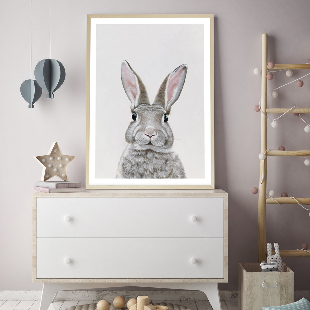 Baby Rabbit III Art Print By The Print Emporium .jpg