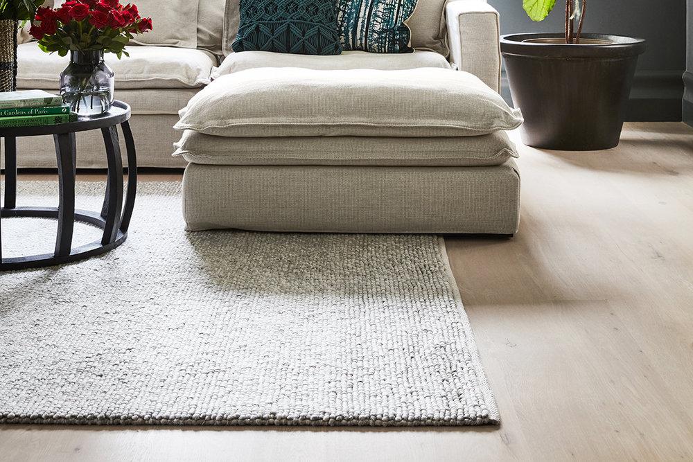 Pebbles hand-woven rug (240 x 300cm) $999