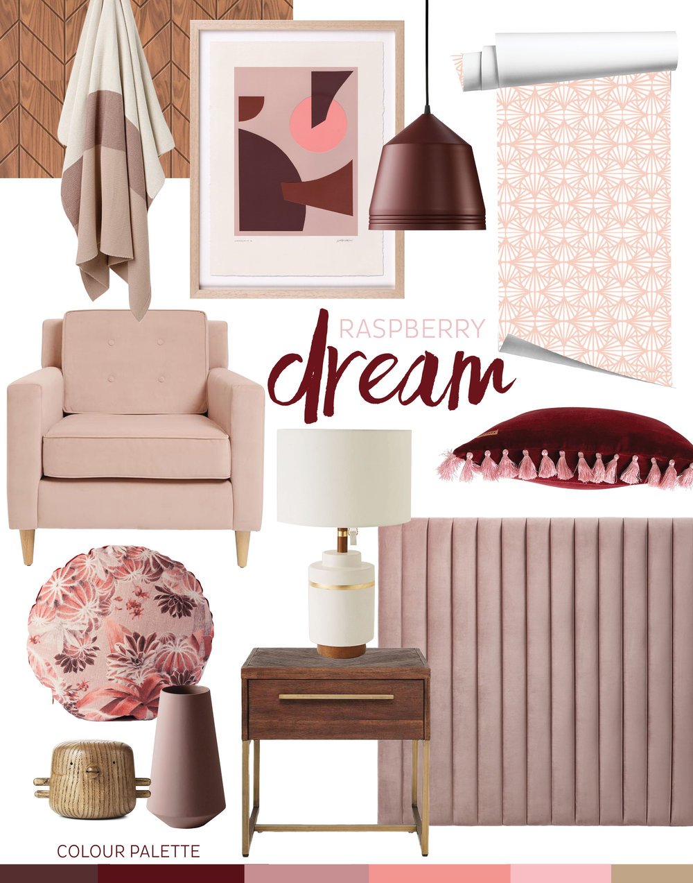 adore_home_blog_burgundy_raspberry_dream_pink_blush_mauve_bedroom_walnut_mid_century_modern_vibes_style.jpg