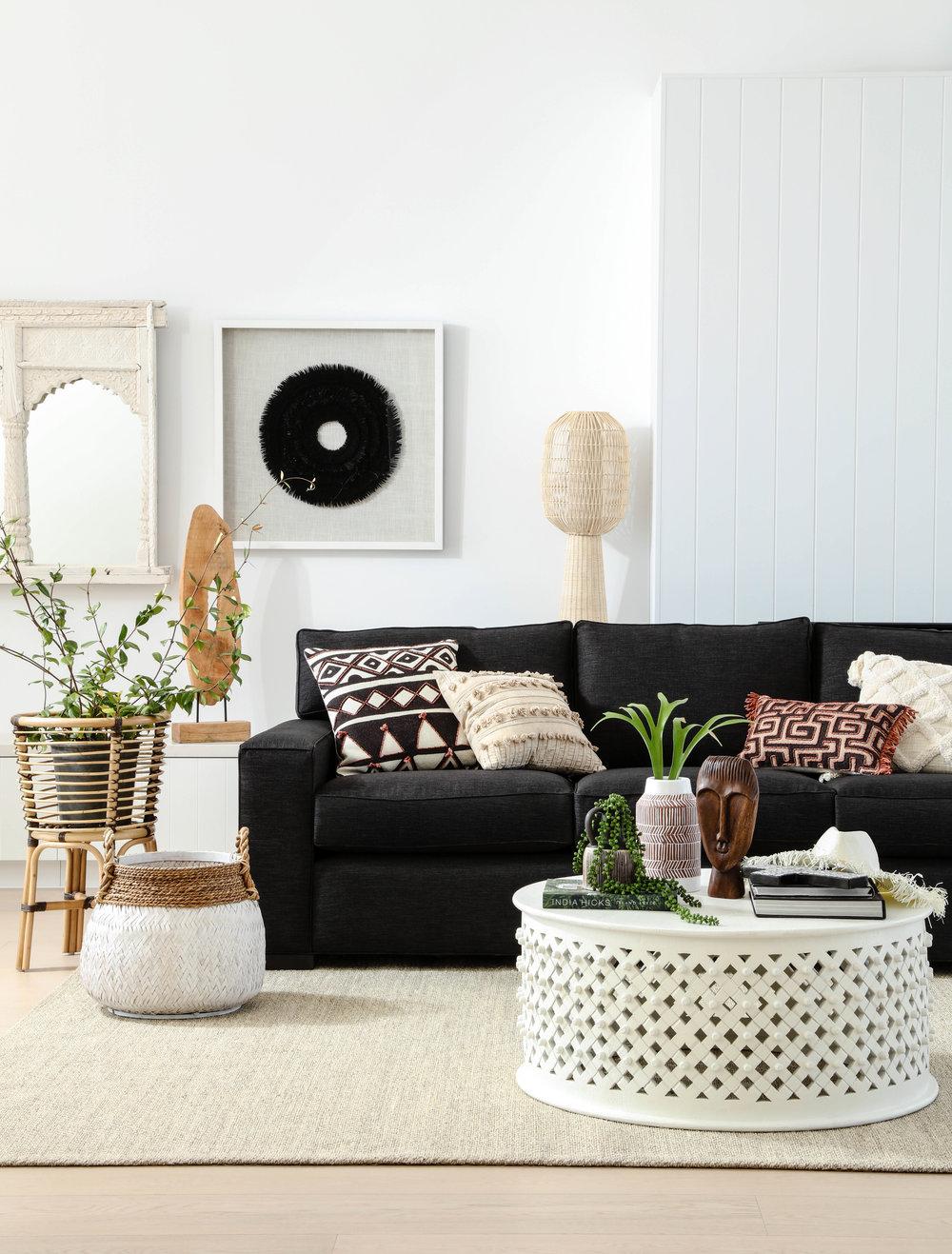 Pictured: Ashton 3 seater sofa, Bornova coffee table.