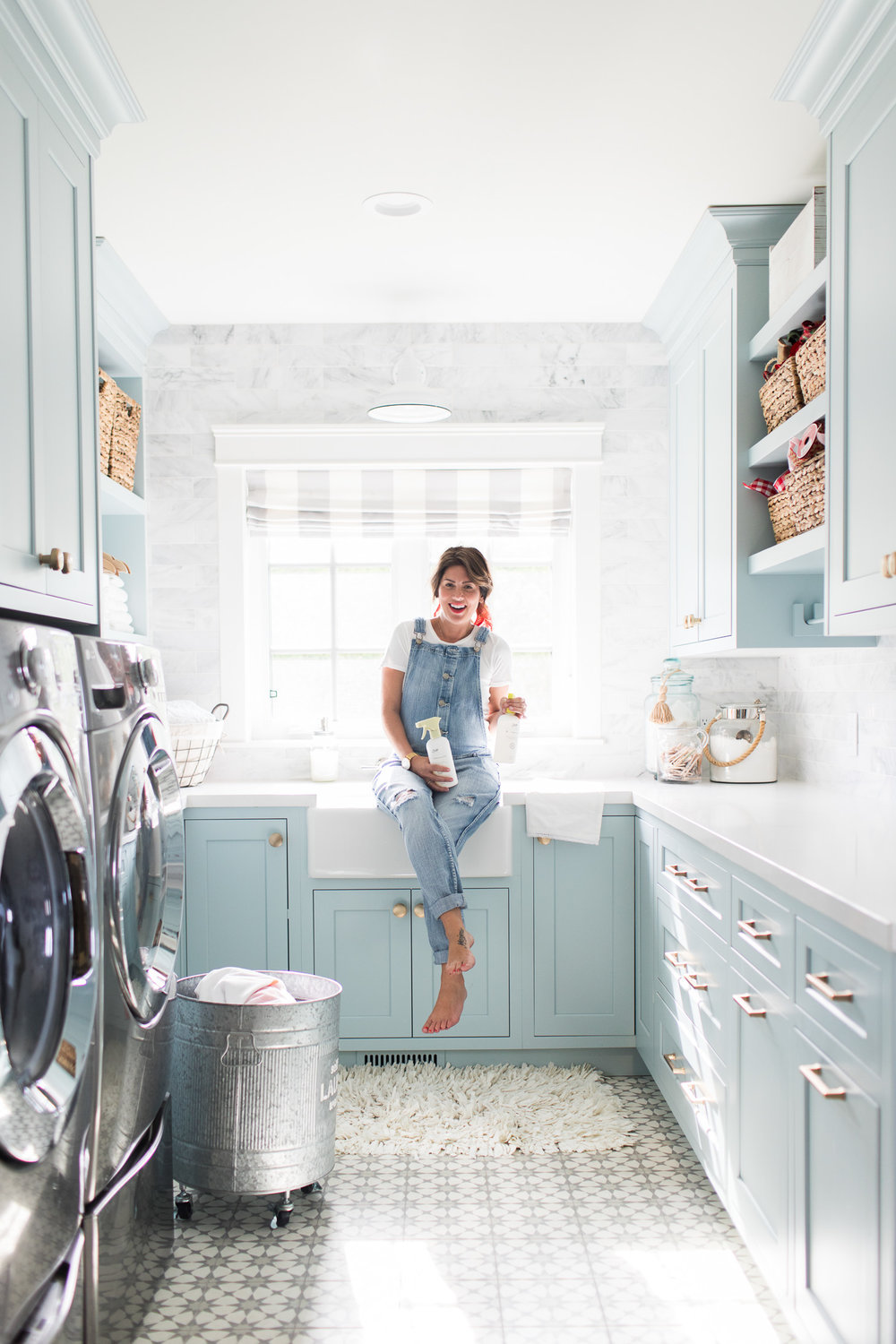 Jillian Harris pictured in her laundry