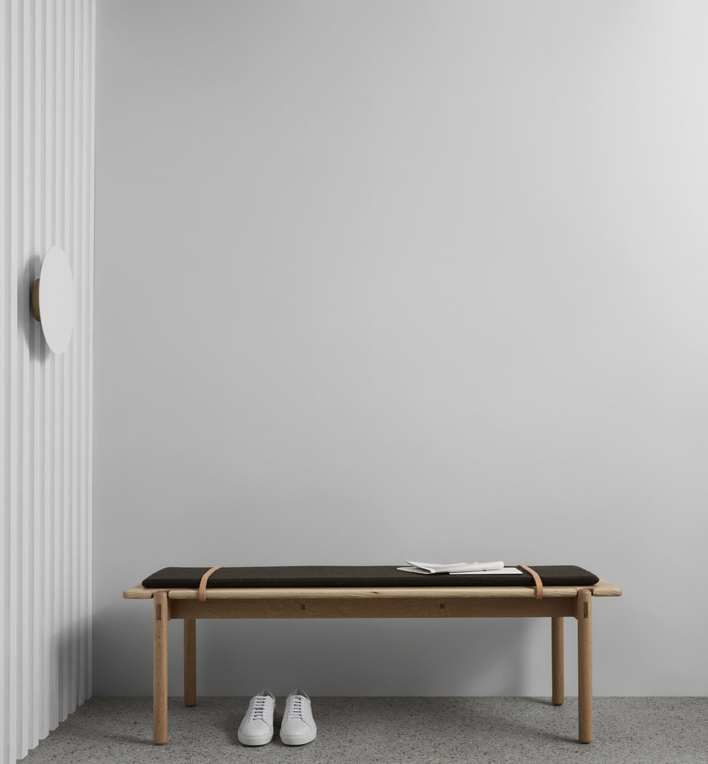 AOB–S olive bench from Made by Morgen