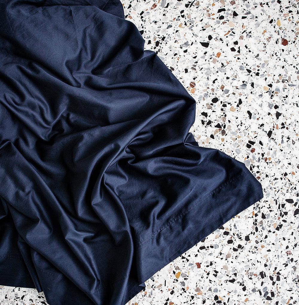 Extra soft sateen sheet from George Street Linen