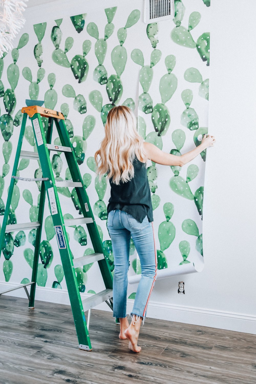 Vintage Cactus Wallpaper  /  Photography + Interior   Stephanie Hanna