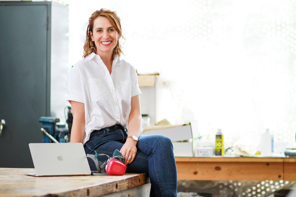 Cara Delzer, Moxxly's CEO & Co-Founder + Sullivan & Magdalena's mama