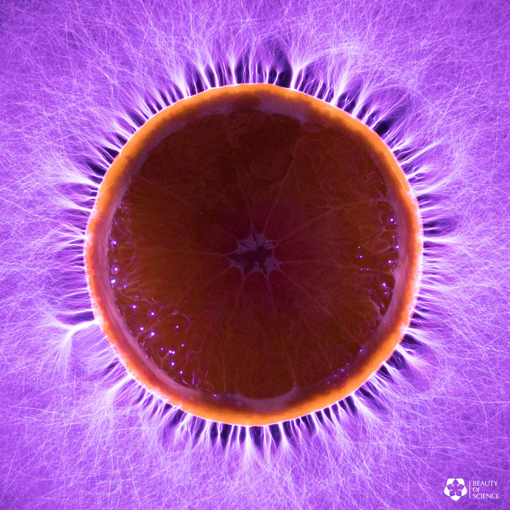 Kirlian Photography with Orange